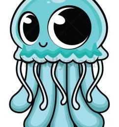 cute baby jellyfish vector cartoon clipart [ 800 x 1067 Pixel ]