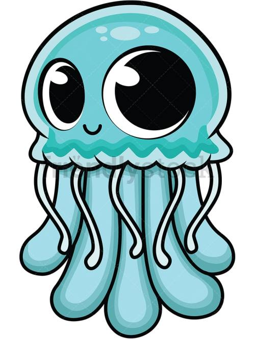 small resolution of cute baby jellyfish vector cartoon clipart