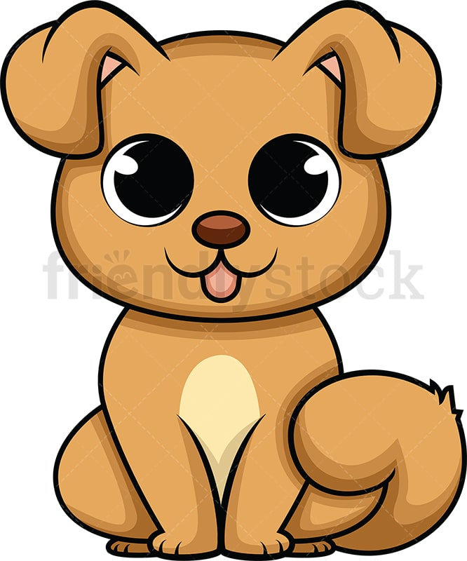 Cartoon Dog Eyes : cartoon, Cartoon, Vector, Clipart, FriendlyStock
