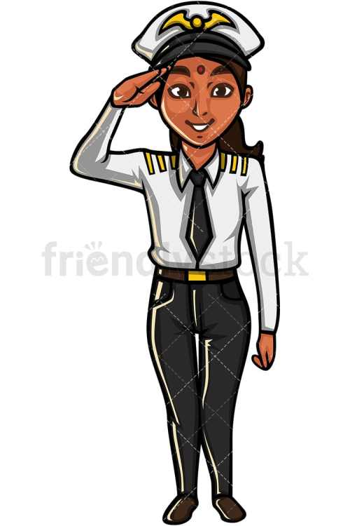 small resolution of indian woman airline pilot vector cartoon clipart