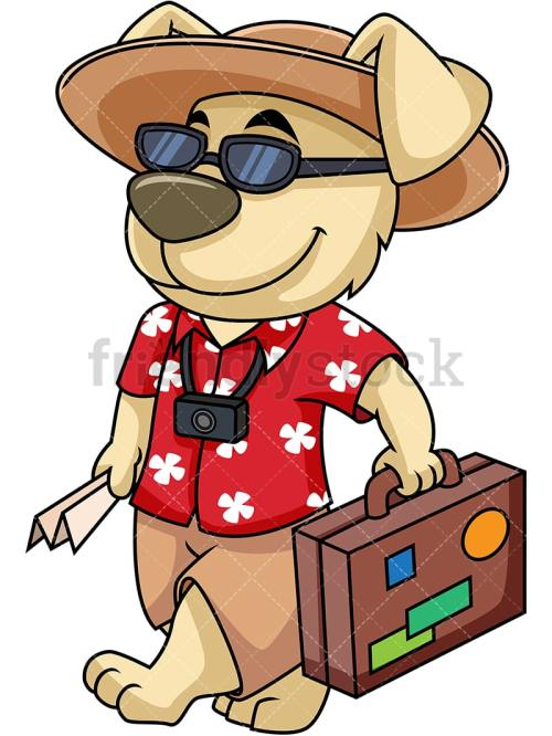 small resolution of dog mascot traveler going on vacation vector cartoon clipart