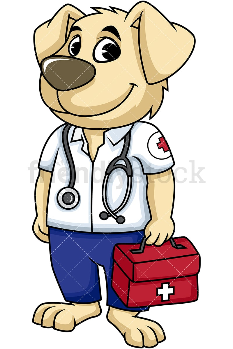 hight resolution of dog first aid paramedic vector cartoon clipart