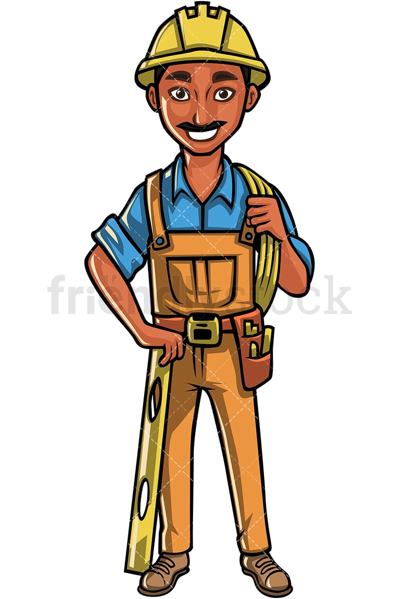 hight resolution of indian construction worker vector cartoon clipart