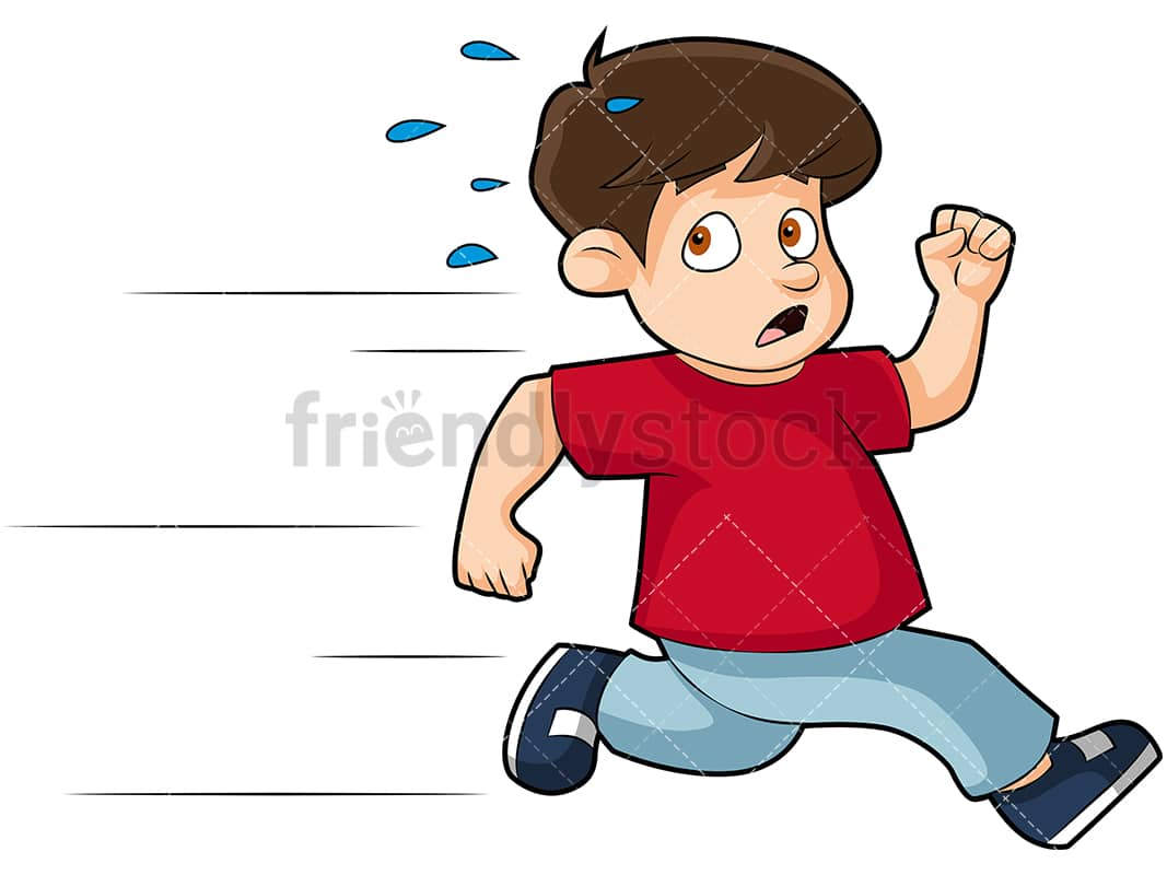 hight resolution of scared little kid running away png jpg and vector eps infinitely scalable