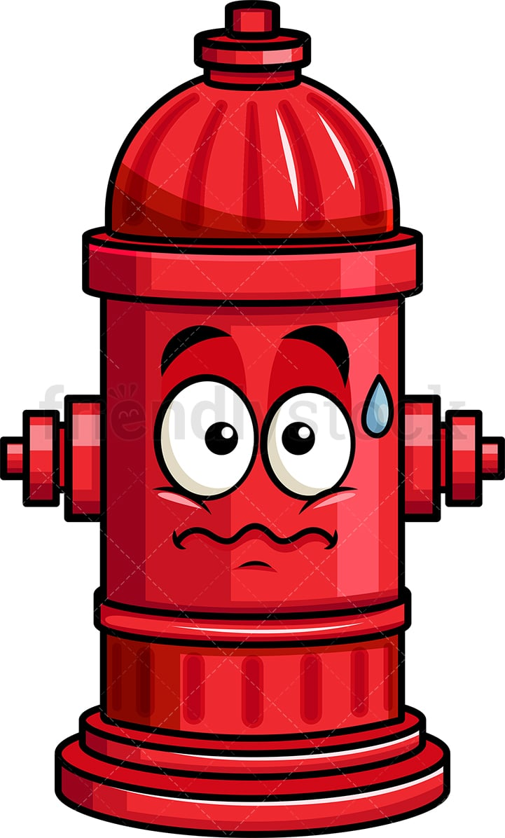 medium resolution of anxious fire hydrant emoji vector cartoon clipart