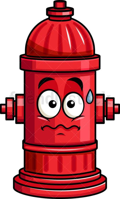 small resolution of anxious fire hydrant emoji vector cartoon clipart