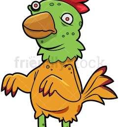 funny zombie chicken vector cartoon clipart [ 800 x 1200 Pixel ]