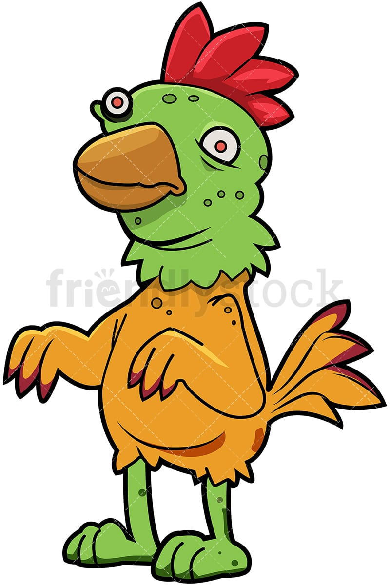 hight resolution of funny zombie chicken vector cartoon clipart