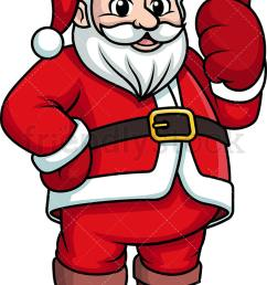santa claus giving the thumbs up vector cartoon clipart [ 734 x 1196 Pixel ]