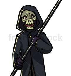 halloween grim reaper cartoon character png jpg and vector eps infinitely scalable  [ 800 x 1200 Pixel ]