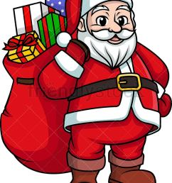 santa claus bearing gifts png jpg and vector eps infinitely scalable  [ 797 x 1050 Pixel ]