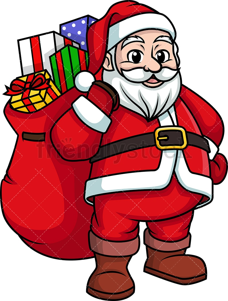 hight resolution of santa claus bearing gifts png jpg and vector eps infinitely scalable