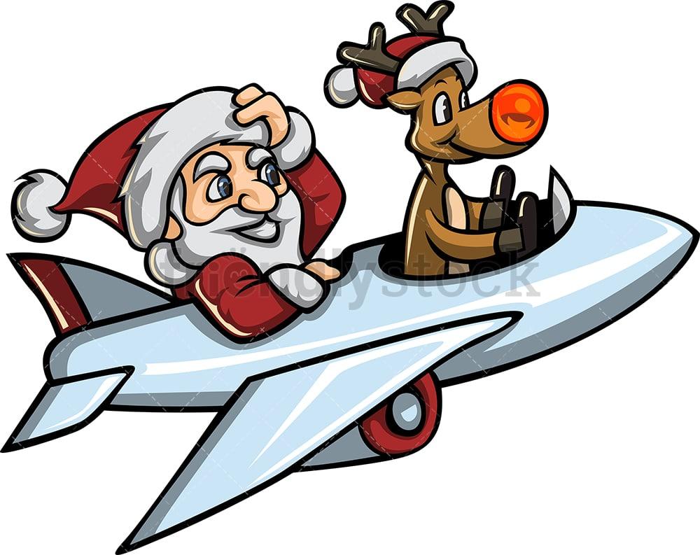 rudolph the reindeer flying