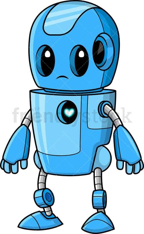 small resolution of cute blue robot vector cartoon clipart