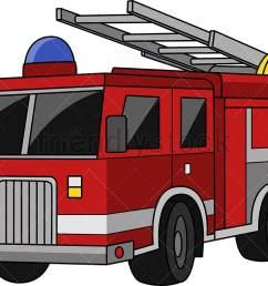 fire truck vector cartoon clipart [ 1020 x 795 Pixel ]