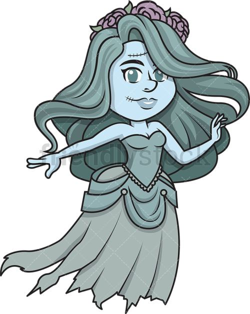 small resolution of ghost bride vector cartoon clipart