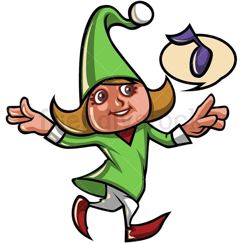 a female christmas elf