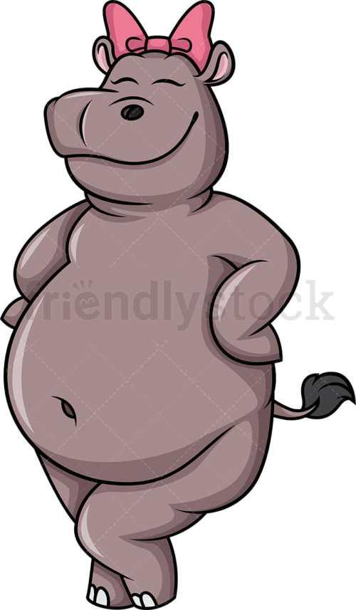 small resolution of female hippo vector cartoon clipart