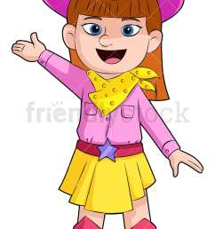 cute girl cowboy with hats and boots vector cartoon clipart [ 800 x 1200 Pixel ]