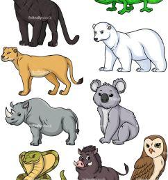 wild animals collection 4 vector cartoon clipart [ 800 x 1067 Pixel ]