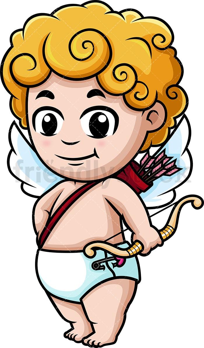 medium resolution of cute cupid holding bow vector cartoon clipart