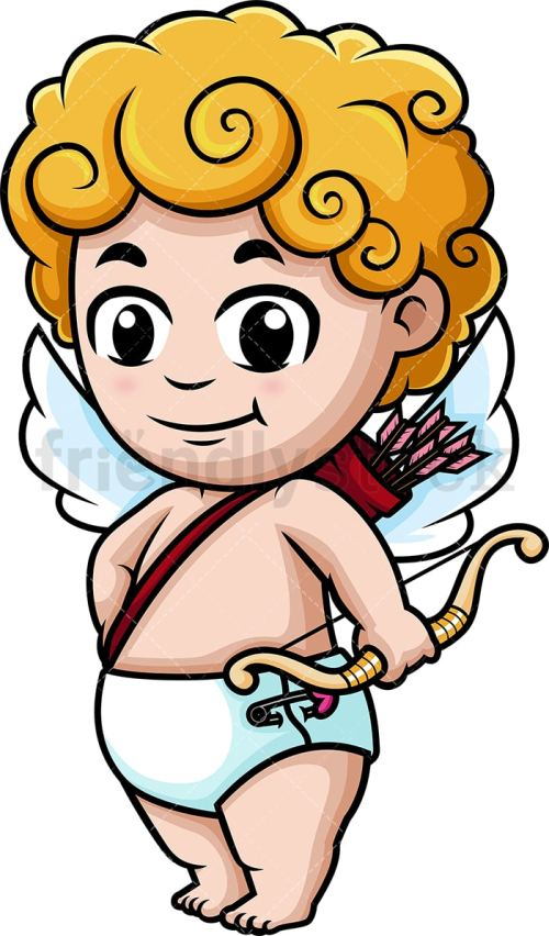 small resolution of cute cupid holding bow vector cartoon clipart