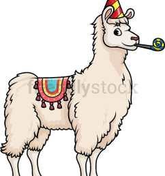 party llama vector cartoon clipart [ 811 x 990 Pixel ]