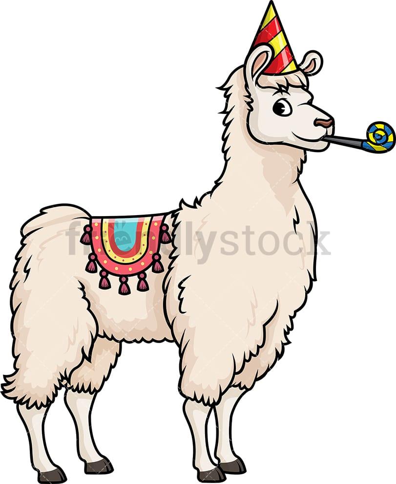 medium resolution of party llama vector cartoon clipart