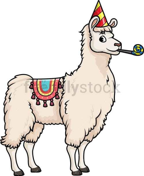 small resolution of party llama vector cartoon clipart