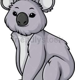 koala bear vector cartoon clipart [ 786 x 1064 Pixel ]