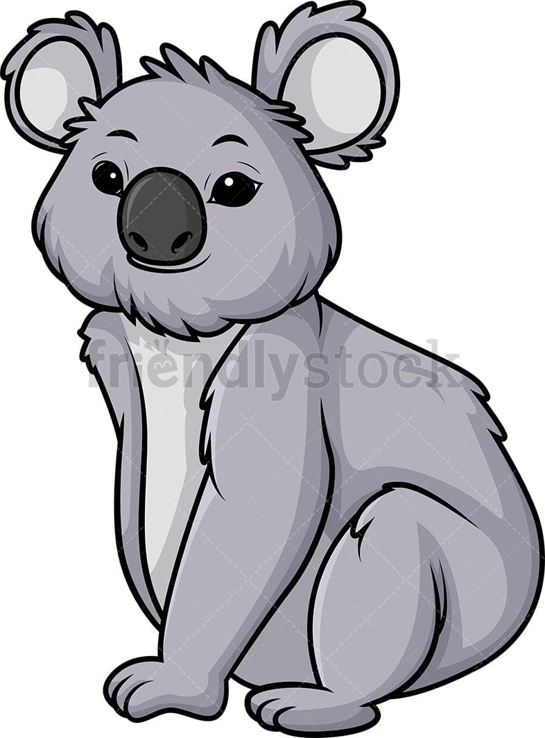 hight resolution of koala bear vector cartoon clipart