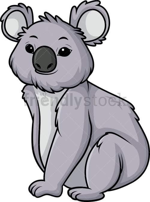 small resolution of koala bear vector cartoon clipart