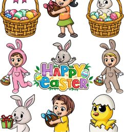 easter cartoon clipart png jpg and vector eps file formats infinitely scalable  [ 800 x 1067 Pixel ]