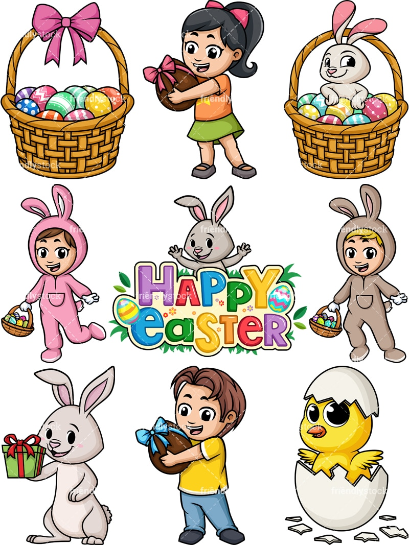 hight resolution of easter cartoon clipart png jpg and vector eps file formats infinitely scalable