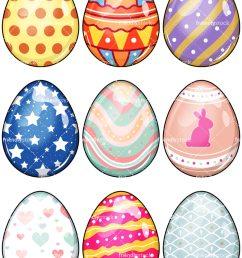 easter eggs vector cartoon clipart [ 800 x 1067 Pixel ]