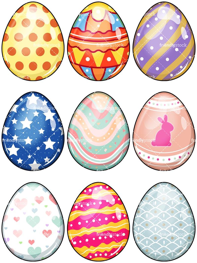 medium resolution of easter eggs vector cartoon clipart