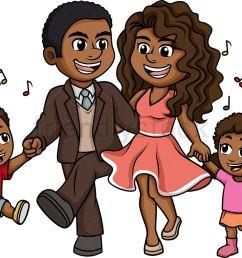 black family dancing vector cartoon clipart [ 1040 x 797 Pixel ]
