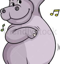 hippo dancing vector cartoon clipart [ 681 x 1194 Pixel ]