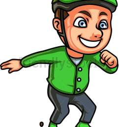 little boy roller skating vector cartoon clipart [ 771 x 1064 Pixel ]