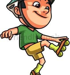 kid roller skating vector cartoon clipart [ 776 x 1060 Pixel ]