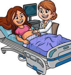pregnant woman getting an ultrasound vector cartoon clipart [ 1000 x 894 Pixel ]
