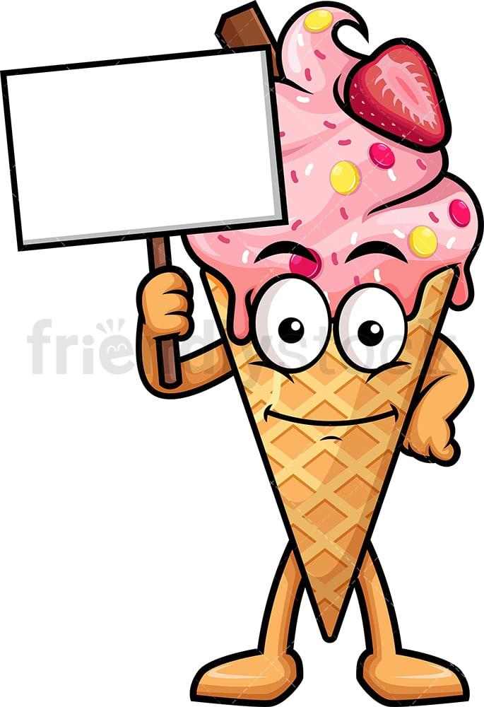 ice cream cone holding