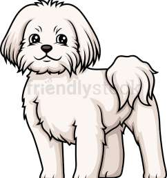 cheerful maltese vector cartoon clipart [ 891 x 1000 Pixel ]