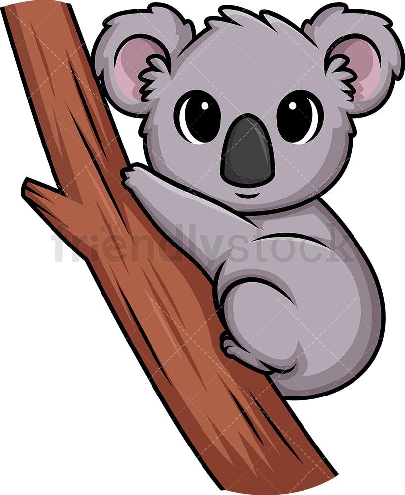 hight resolution of chibi kawaii koala bear vector cartoon clipart
