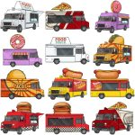 Vector Food Trucks Cartoon Clipart Friendlystock