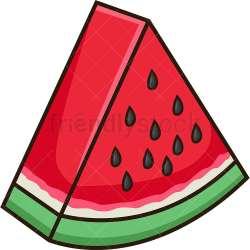 Watermelon Slice Cartoon Vector Clipart FriendlyStock