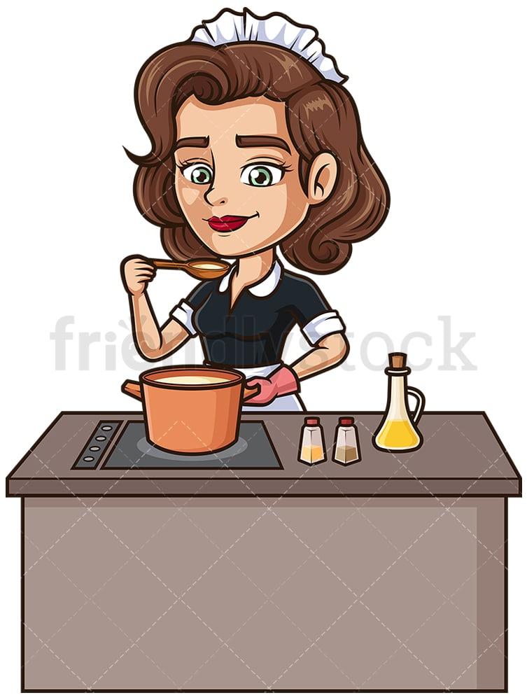 Cooking Cartoon Images : cooking, cartoon, images, Cooking, Cartoon, Clipart, Vector, FriendlyStock