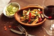 Eggplant and camembert warm salad