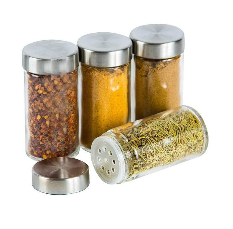 rotating stainless steel spice rack