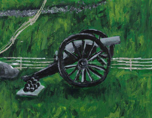 AM gettysburg 9×12 acrylic $ 45 6-17
